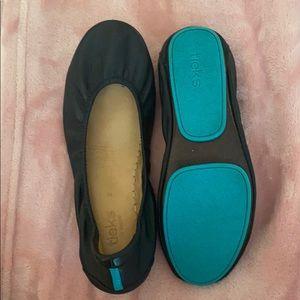 All leather black Tieks ballet flats - worn once!